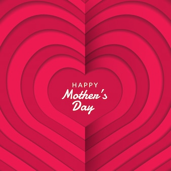 Układ dnia matki szczęśliwy z róż, napis, cięcia papieru i tekstura tło. ilustracja.