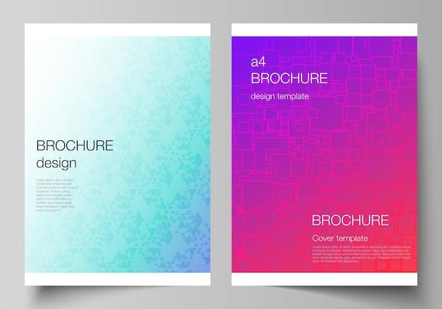 Układ formatów nowoczesnych szablonów okładek do broszury