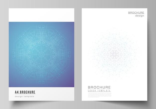 Układ nowoczesnych szablonów makiet okładki w formacie a4 do broszury
