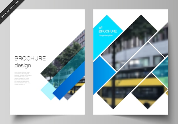 Układ nowoczesnych szablonów okładek w formacie a4 do broszury