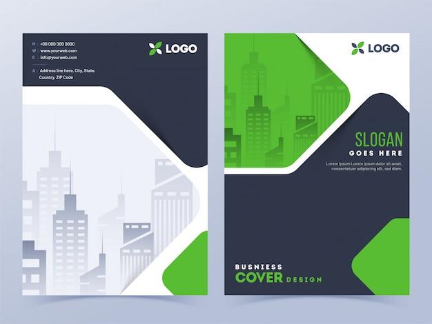 Układ okładki broszury