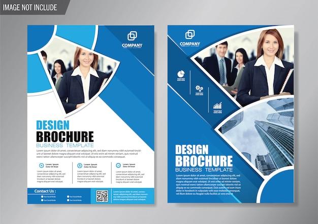 Układ projektu okładka ulotka i szablon broszury biznesowej dla rocznego raportu w tle