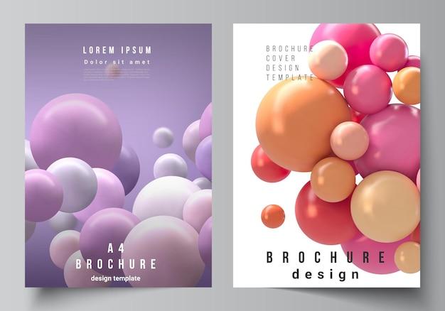 Układ szablonów okładek do projektowania broszur lub ulotek