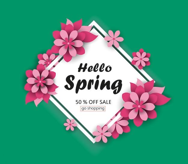 Układ tła sprzedaż wiosna banery.