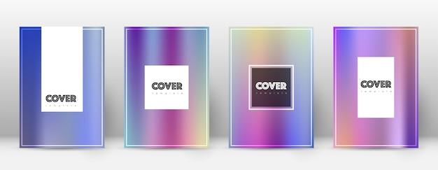 Układ ulotki. strona tytułowa gradientów kolorów.