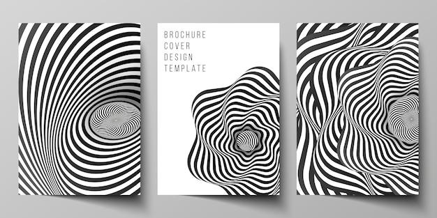 Układ wektorowy makiet okładek a4 szablonów projektów dla broszury