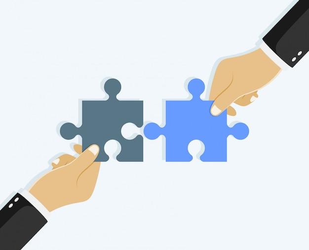 Układanie rąk. koncepcja biznesowa pracy zespołowej.