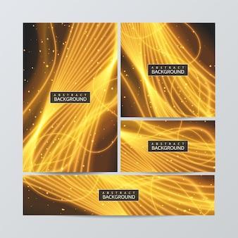 Układy ulotek broszur z abstrakcyjnymi kolorowymi w formacie a4.