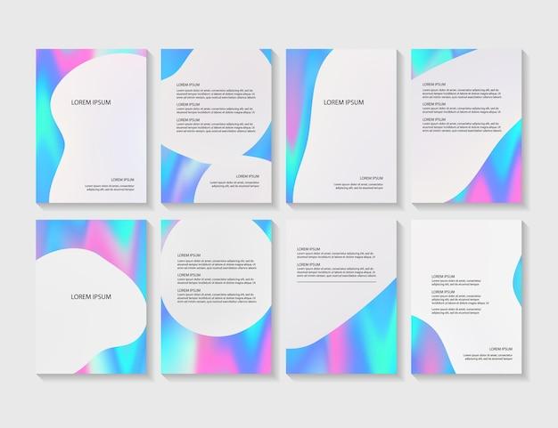 Układy ulotek z abstrakcyjnymi kolorowymi w formacie a4.