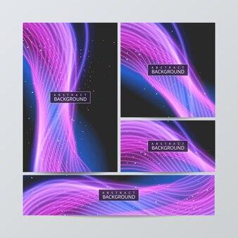 Układy z abstrakcyjnym zestawem kolorowych.
