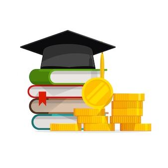 Ukończenie studiów kosztuje kosztowną edukację lub budżet pożyczki na stypendium