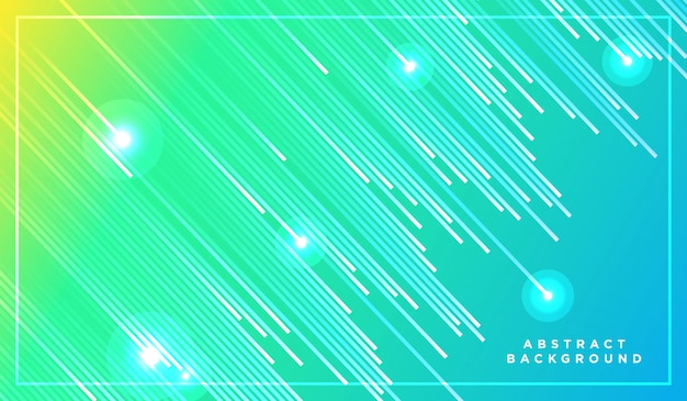 Ukośne linie paskowe padające ze świecącym światłem