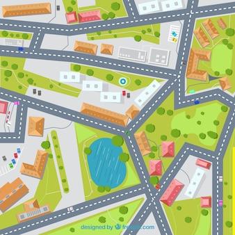 Ulica mapa ilustracji tła