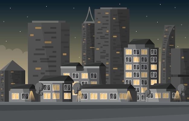 Ulica miasto budowa budynku cityscape skyline biznesowa ilustracja