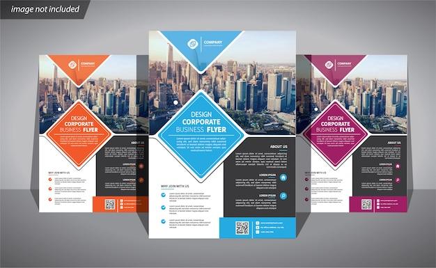 Ulotka biznes szablon dla broszury korporacyjnej