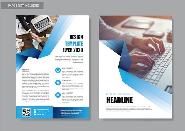 Ulotka biznes szablon dla korporacyjnej broszury okładkowej