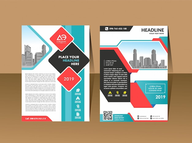 Ulotka broszura plakat projekt szablon wektor