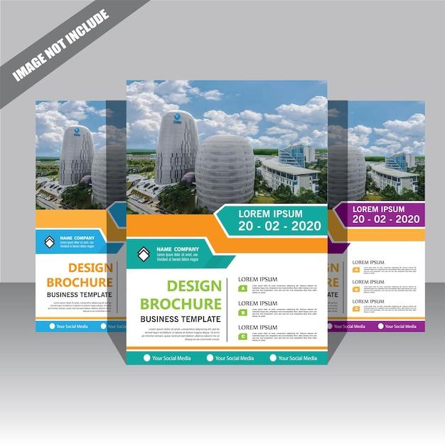 Ulotka broszura szablon układ projekt rocznego sprawozdania