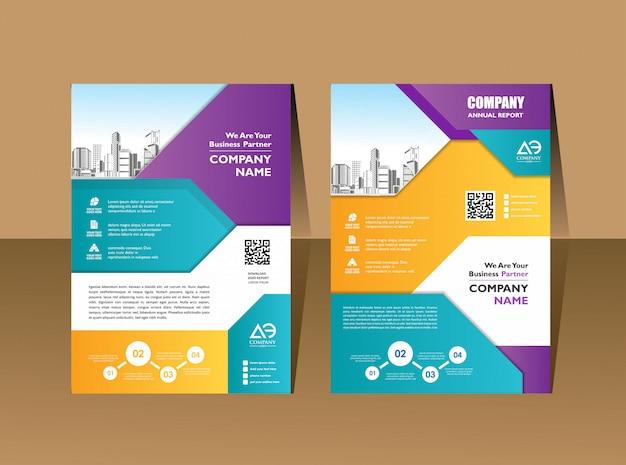 Ulotka broszury plakatowej prezentacja okładki ulotki