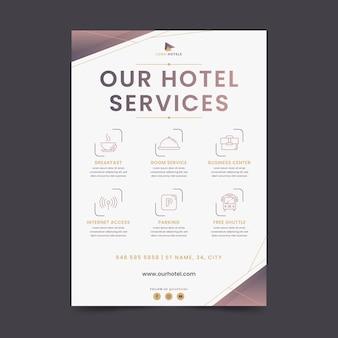 Ulotka dotycząca nowoczesnych usług hotelowych
