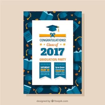 Ulotka dyplomu ukończenia szkoły z kapslami i książkami