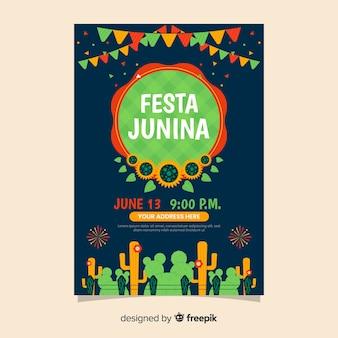 Ulotka festa junina