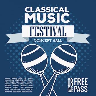 Ulotka festiwalu muzyki klasycznej