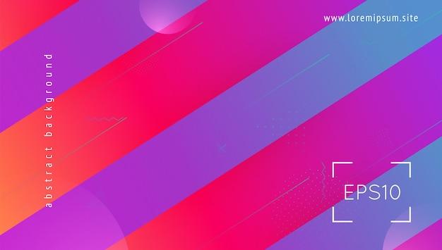 Ulotka gradientowa. kształt niebieski hipster. geometryczny transparent sztuki. dynamiczna tekstura. zaproszenie do technologii. płaska strona docelowa. ramka graficzna. minimalistyczny projekt. ulotka z gradientem magenta