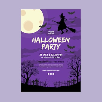 Ulotka halloween party a5