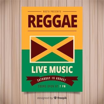 Ulotka imprezowa reggae