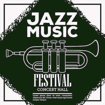 Ulotka jazzowego festiwalu muzycznego