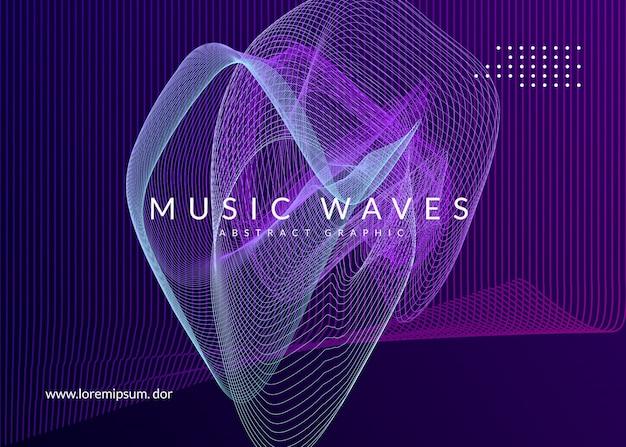 Ulotka klubu neonowego. muzyka electro dance. trance party dj. festiwal dźwięku elektronicznego. plakat wydarzenia techno.