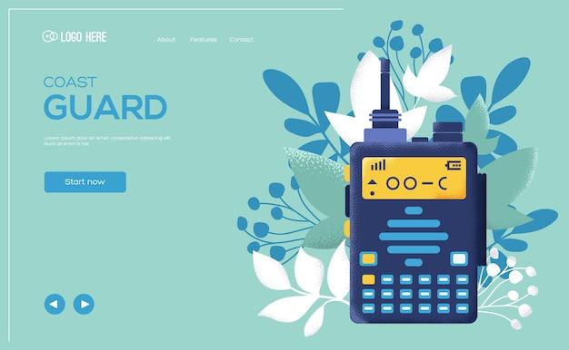 Ulotka koncepcyjna nadajnika, baner internetowy, nagłówek interfejsu użytkownika, wejście na stronę. tekstura ziarna i efekt szumu.