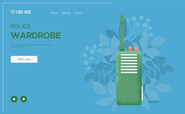 Ulotka koncepcyjna nadajnika, baner internetowy, nagłówek interfejsu użytkownika, wejście na stronę. .
