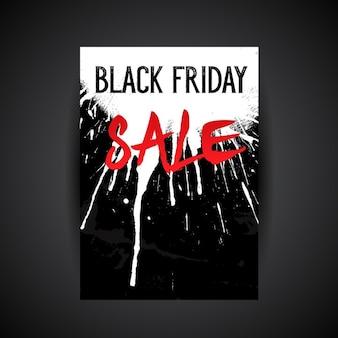 Ulotka konstrukcja czarny piątek sprzedaż