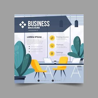Ulotka kwadratowa broszura biznesowa