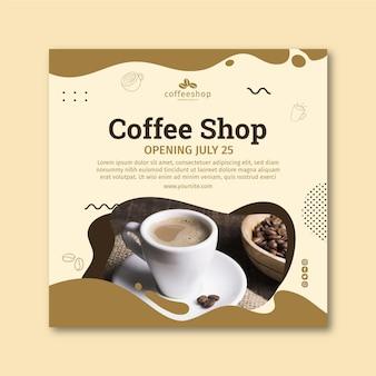 Ulotka kwadratowa kawiarnia