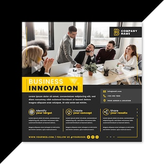 Ulotka kwadratu innowacji biznesowych