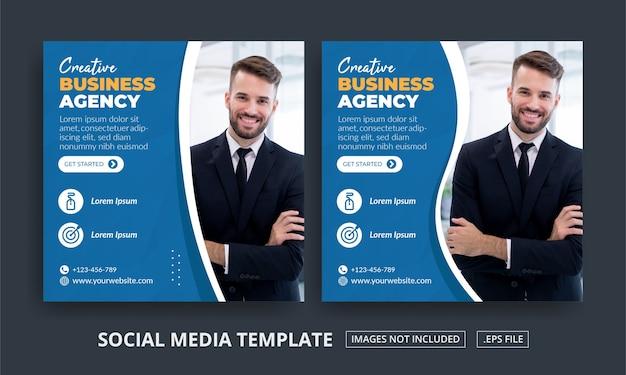 Ulotka lub agencja biznesowa w mediach społecznościowych