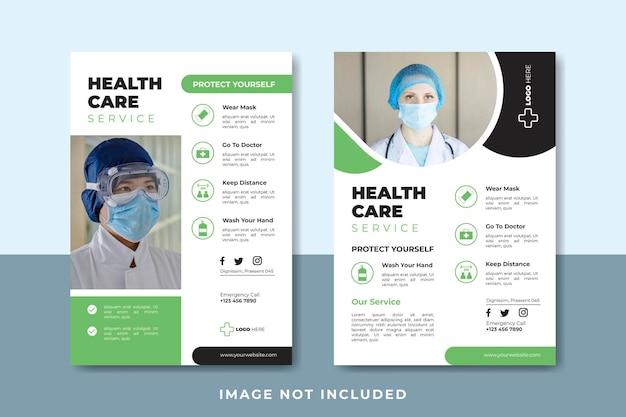 Ulotka medyczna do szablonu postu w mediach społecznościowych
