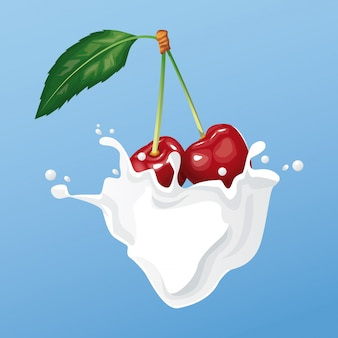 Ulotka mleczna i jagodowa