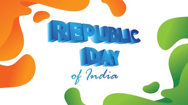 Ulotka na dzień republiki indii