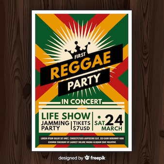 Ulotka nocna reggae party