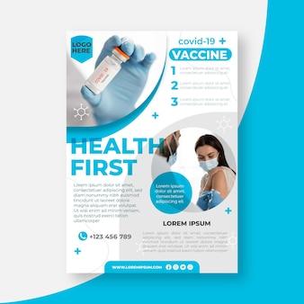 Ulotka o szczepieniu przeciwko płaskiemu organicznemu koronawirusowi