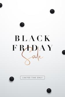Ulotka pionowa black friday sale