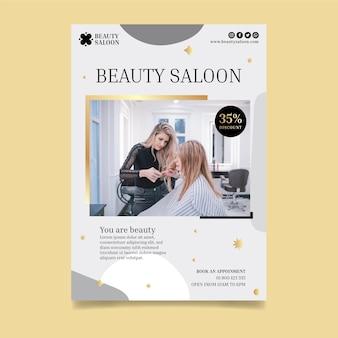 Ulotka pionowa salonu piękności