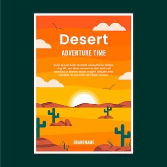 Ulotka przygodowa z płaską pustynią