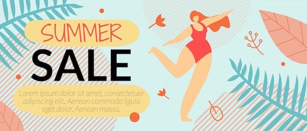 Ulotka reklamowa lato sprzedaż szablon transparent wektor ilustracja.