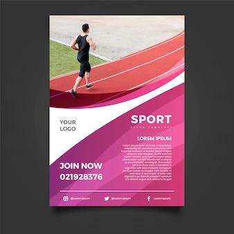 Ulotka sport szablon ze zdjęciem