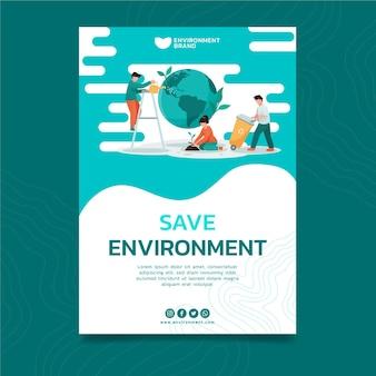 Ulotka środowiskowa pionowa